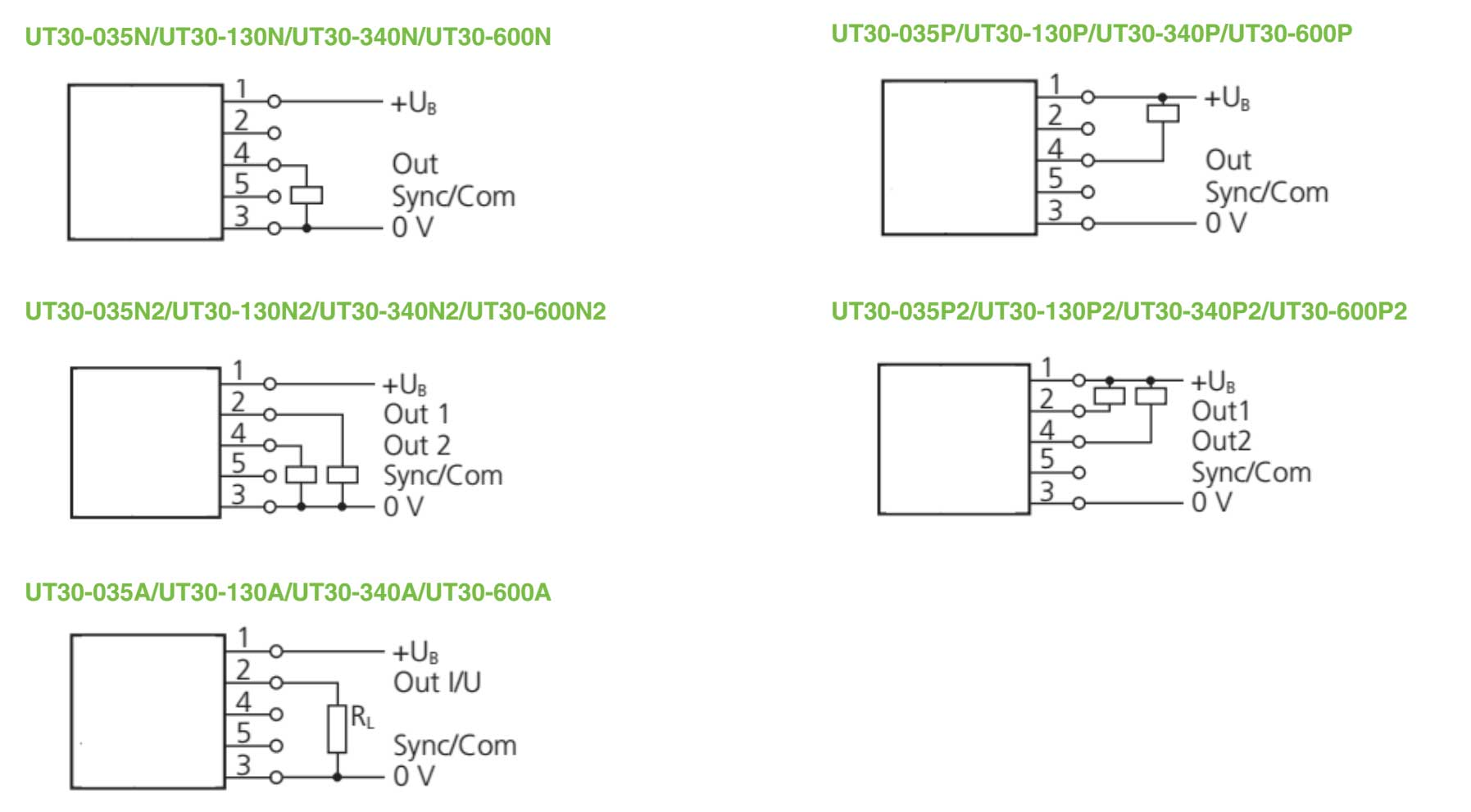 UT30 ULTRASONIC SENSOR WIRING DIAGRAM