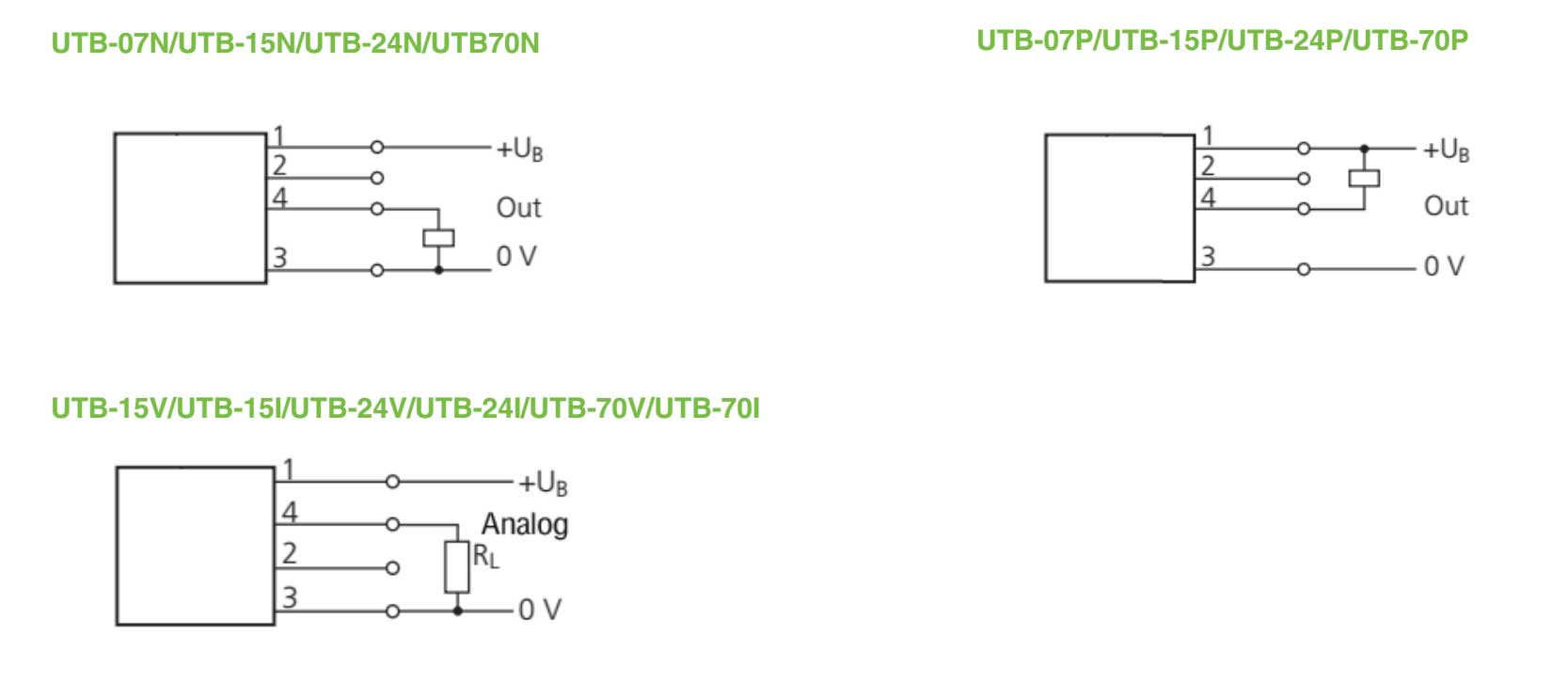UTB ULTRASONIC SENSOR WIRING DIAGRAM